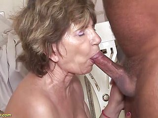 Kinky 79 years old mom anal with stepson