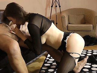 Amateur lingerie euro doggystyled by oldman