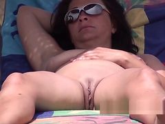 Pierced Clit Fat Pussy Nudist Hot Milf Voyeur Beach Spy