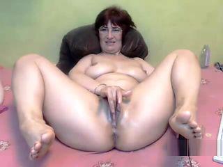 BBW big ass mature fisting and cum