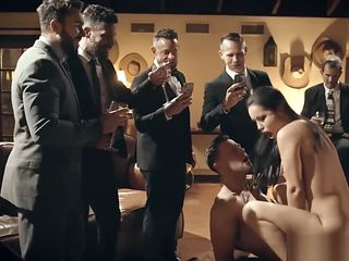 PURE TABOO Escort Humiliated by Businessmen During Public Fuck