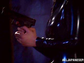 Mayu Nozomi hot Asian milf gets bondage action