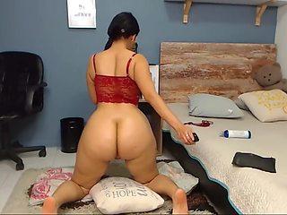 Latina riding dildo