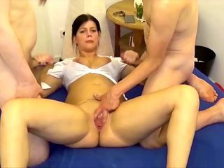 German Pregnant Teen Katy in Amateur Gangbang Group Sex