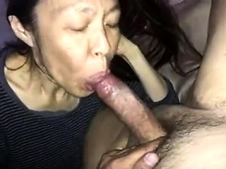 Horny Japanese granny reveals her blowjob abilities in POV