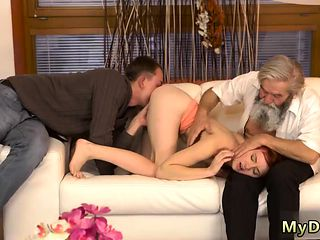 My daddy creampie xxx Unexpected experience with an older ge