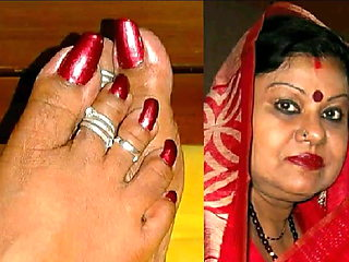 Spicey INDIAN AUNTY Wants It On Her Feet And Face