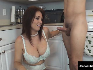 Cheating Cougar Wife Charlee Chase Sucks The Plumber Dry!