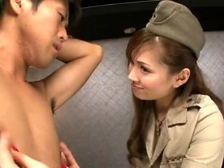 Japanese Beauty - Foot and nipple play