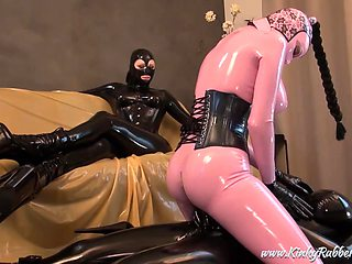 Kinkyrubberworld - Lady Alshari - Live Rubber Sex Show For The Mistress