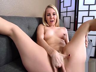 Blonde MILF Step Mom Orgasms With Big Dick Step Son In Family Room POV