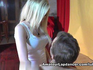 The most beautiful blonde lapdances