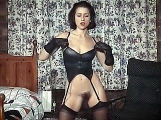 Beneath The Black Dress - hairy beauty striptease