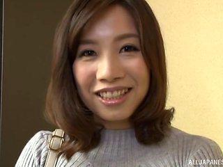 Closeup homemade video of naughty wife Ishikawa Asumi teasing