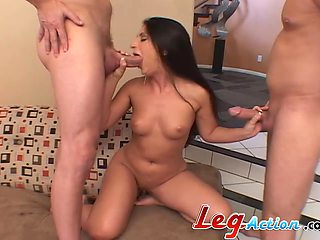 Video of housewife Luscious Lopez getting fucked in a threesome