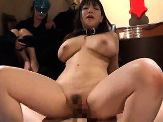 Big breasted Japanese milf enjoys bondage and hardcore sex