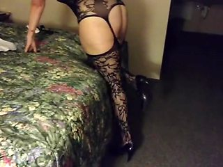 Filming my wife in a hotel