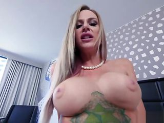 Cute busty MILF stepmom prepared something special