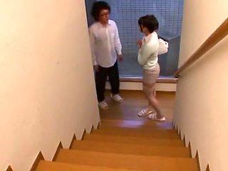 Exotic Japanese slut Sho Nishino in Hottest Stockings, Cougar JAV movie