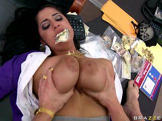 brunette slut big tits being hard fuck in the vagina
