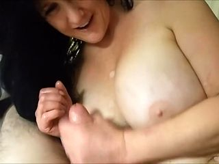 Busty Mom POV Milks Son