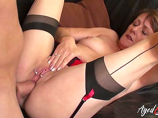 AgedLovE Busty British Mature Enjoying Hardcore