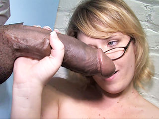 Beautiful Blonde Sasha Knox Takes Her Very First BBC At A Public Gloryhole