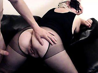 Curvy webcam milf in pantyhose has fun with her boyfriend