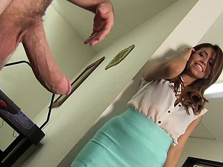 Will Isabella's pussy be able to handle the fully erected cock?