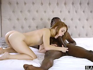 Red head college girl with black sugar daddy