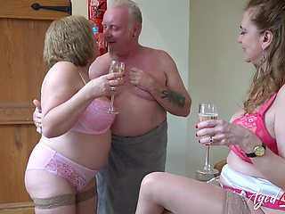 Chubby old whore Trisha shows off how to suck boner cock right