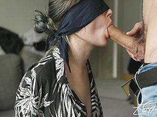 Nice Sloppy Blowjob Before Trying New Cuffs - Bdsm Amateur Lesphilou