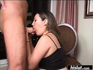 Pregnant brunette badly needs to fuck
