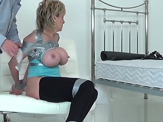 Housewife Taped up and groped