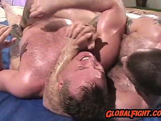 Naked Marine Muscle Jocks Nude Wrestling