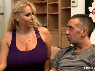 blonde milf with big boobs loves big cock