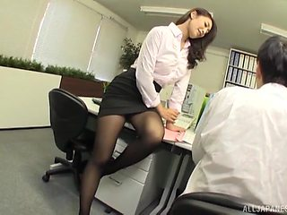 Wild office fucking ends with cum in mouth for a naughty secretary