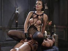 Masked Slave Pleasures His Mistress