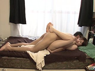 Asian girlfriend Mizuho Uehara screws in 69 and many other positions