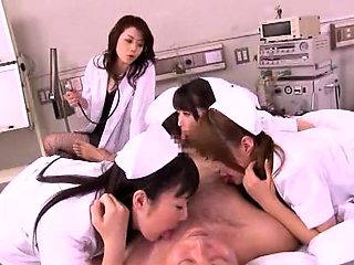 Luscious Oriental nurses share their hunger for cock and cum