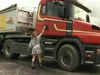 Tiny college girl Gets Truck Fucked And Fisted !