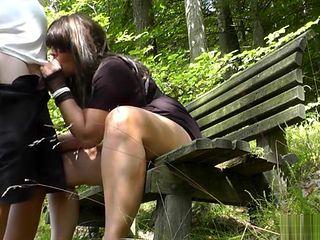 Naughty slutwife flashing and having sex in public