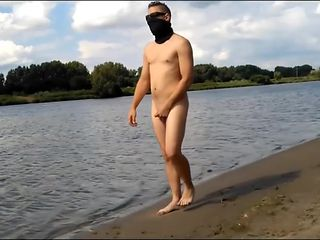 naked exhibition by the water