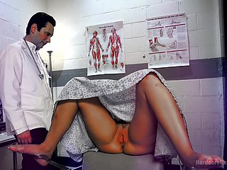 Roxy Raye comes to visit her doctor and fucks with him and his friends