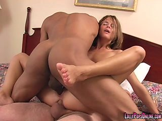 Brutal threesome with deepthroat and double penetration for Amber Star