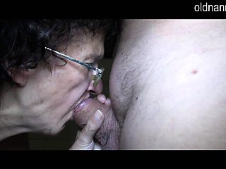 Old Nanny very old granny 86yo and very horny sucking cock