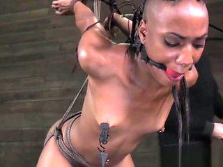 Anally hooked slut being punished by maledom master