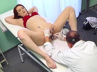 Hot redhead fucked in hospital