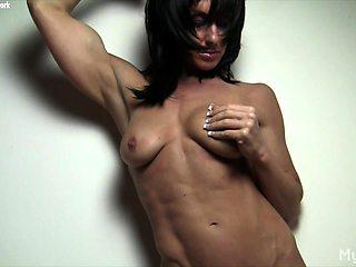 Shy Sexy Female Bodybuilder Shows Her Big Clit