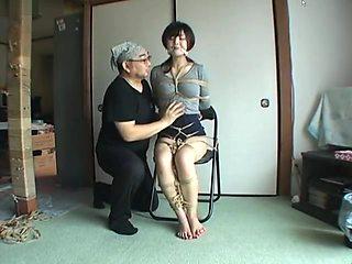 Japanese giris rope bondage and gaged